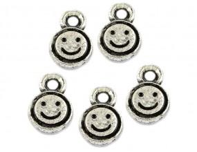 Zawieszka Uśmiech 13x9mm k. srebro antyczne 8sztuk akryl