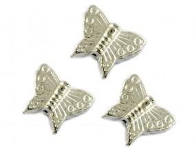Przekładka Motyl 15x13mm k. srebrny 6 sztuk