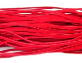 RZEMIEŃ zamszowy płaski 3x1mm czerwony 2 metry