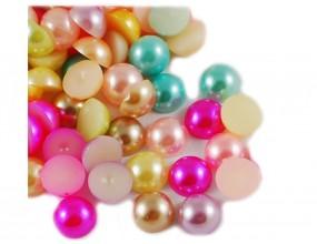 Kaboszony perły akrylowe 10 mm 10 sztuk mix