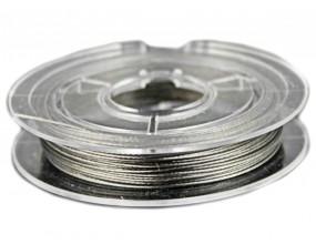 Linka jubilerska szpula 10 Metrów k. srebrny  0,45mm