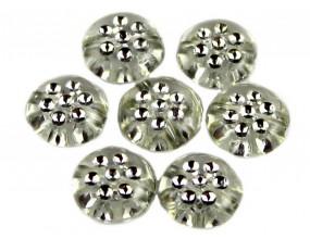 Koraliki monety akrylowe 10 mm bezbarwne 10 sztuk