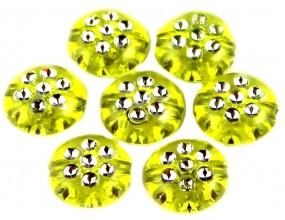 KORALIKI MONETY AKRYLOWE 10 mm ŻÓŁTE 10 sztuk