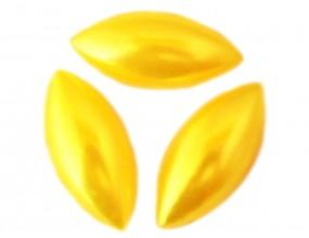Kaboszony perłowe Horse Eye 15x7mm żółte 8 sztuk