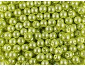 PERŁA PERŁY PEREŁKI SZKLANE 6mm zielony jasny 30sztuk