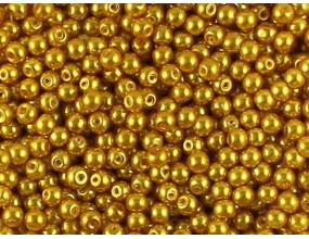 PERŁA PERŁY PEREŁKI SZKLANE 4mm złoty 50 sztuk