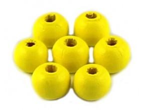 KORALIKI DREWNIANE 10mm KULE żółty 50szt