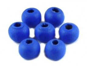 KORALIKI DREWNIANE 8mm KULE niebieskie 100szt