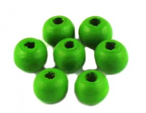 KORALIKI DREWNIANE 8mm KULE zielone 100szt
