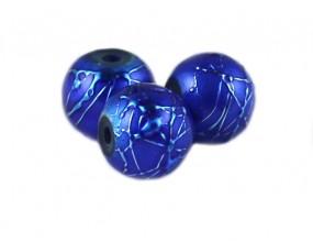Koraliki szklane SPECTRA 8mm niebieskie 10 sztuk