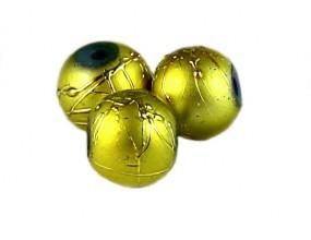 Koraliki szklane SPECTRA 8mm żółte 10 sztuk