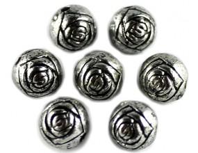 PRZEKŁADKA kula wzorek 7,5mm k. srebrny antyczny 10 sztuk
