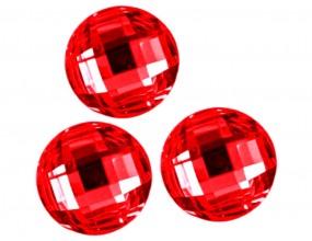 KABOSZONY SZLIFOWANE OKRĄGŁE 10 mm 8szt czerwony