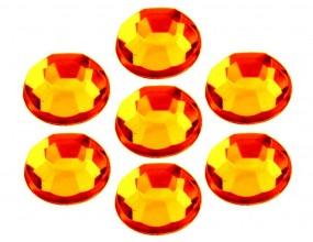 KABOSZONY SZLIFOWANE OKRĄGŁE 8 mm 14szt Pomarańczowe