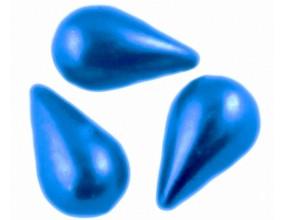Kaboszony perłowe krople 13x8mm granatowe 10 sztuk akryl