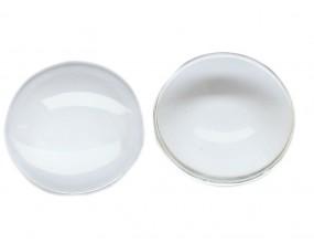 Kaboszon szklany okrągły szkło 20mm przezroczysty 2 sztuki