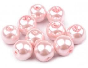 Perły szklane koraliki 10mm różowy jasny 10szt