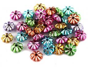 Przekładki Kwiatki koraliki 6mm mix 100 sztuk HURT
