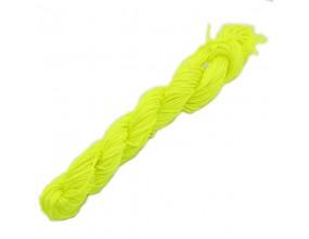 SZNUREK NYLONOWY 1mm DO SHAMBALLA 24m żółty neon