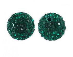 KORALIKI SHAMBALLA kula 10mm k. emerald