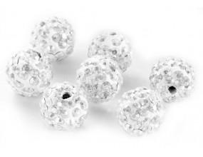 Koraliki SHAMBALLA kula 10mm k. crystal