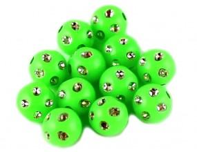 Koraliki zdobione akrylowe 8mm zielony j. 20szt
