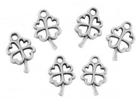 Zawieszka metal KONICZYNKA 10x6mm srebrny c. 8szt