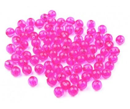 Koraliki kuleczki akrylowe 6mm różowe j. 60szt