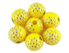 KORALIKI OZDOBNE 8mm 10 sztuk AKRYLOWE żółte