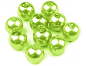 PERŁY SZKLANE perła szklana 8mm zielone o. 14szt