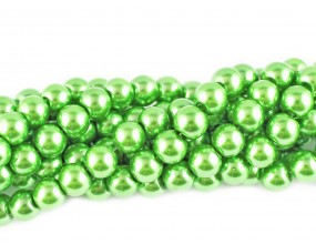 PERŁY SZKLANE PERŁA SZNUR 8mm koraliki 55 szt. zielone
