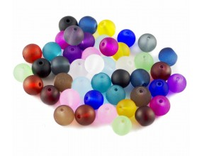 Koraliki MROŻONE Szklane kula 8mm mix kolorów 50szt