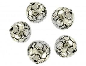 PRZEKŁADKA Koralik piłka 10mm k. srebrny antyczny 6 sztuk