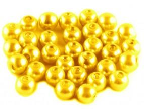 PERŁA PERŁY PEREŁKI SZKLANE 6mm złoty 30szt