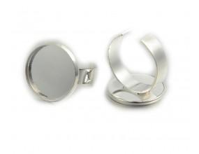 Baza pierścionka na kaboszon 17mm srebrny 1szt