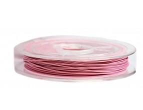 LINKA JUBILERSKA SZPULKA 10 Metrów różowy 0,45mm