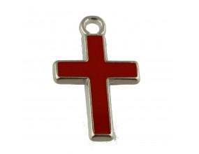 Zawieszka emaliowana krzyż KRZYŻYK 26x16mm 1szt C