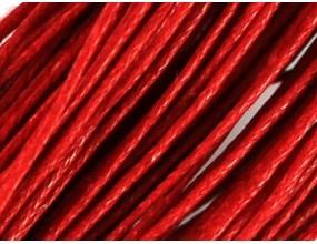 Sznurek Jubilerski Bawełniany Woskowany 1,5mm 4m czerwony