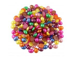 Kaboszony perłowe owalne 10x8mm brązowe 16sztuk