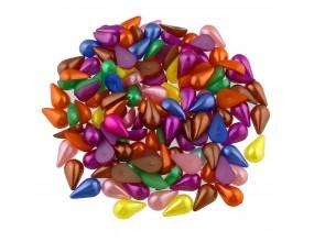 Kaboszony perłowe krople 13x8mm MIX akryl 20szt