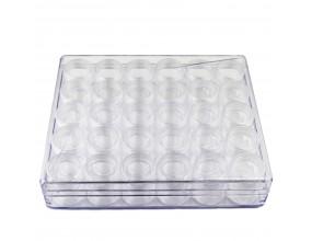 Organizer pudełko pojemniki na koraliki 17,5x11cm