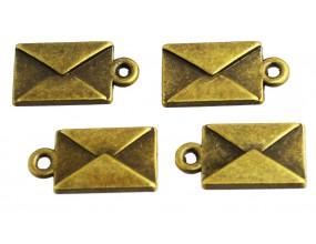 Zawieszka metal CHARMS 30x9x2mm SKRZYDŁA 4sztuki