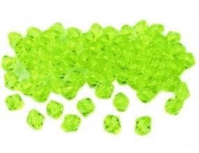 KORALIKI SZLIFOWANE AKRYLOWE 6mm zielony 60szt