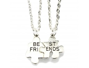 Naszyjnik przyjaźni wisiorek BEST FRIENDS komplet