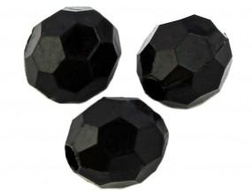 Koraliki KULE akrylowe 10mm 10szt.czarny