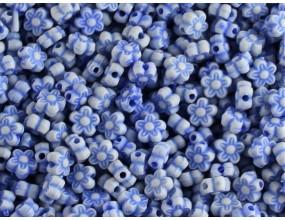 KORALIKI KWIATKI AKRYLOWE 7mm niebieskie 30 sztuk