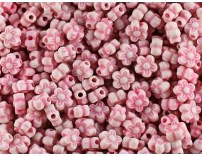 KORALIKI KWIATKI AKRYLOWE 7mm różowe j. 30 sztuk