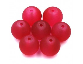 KORALIKI MROŻONE SZKLANE 10mm czerwony