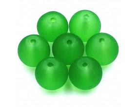 KORALIKI MROŻONE SZKLANE 10mm zielony