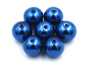 Perły szklane koraliki 10mm 10szt niebieski paryski